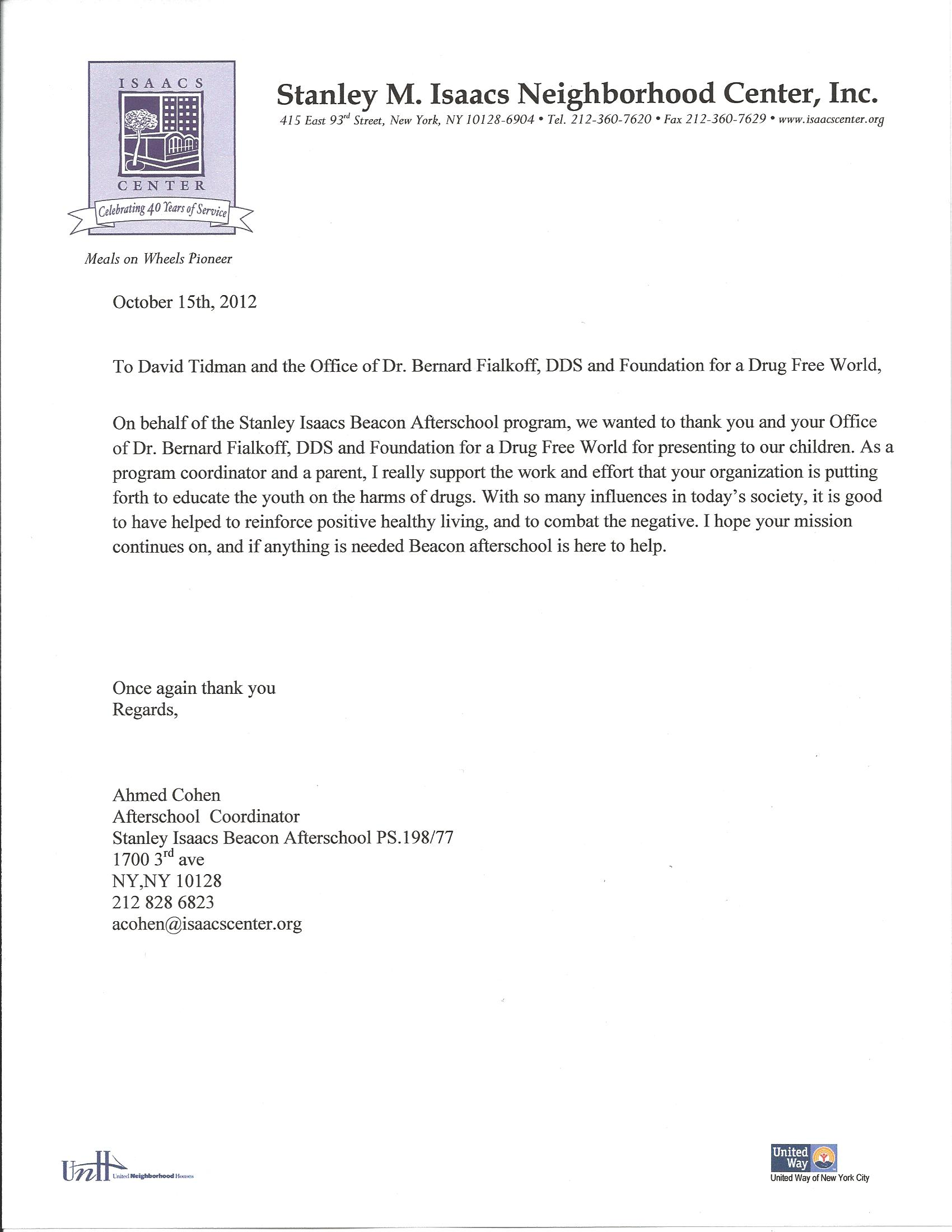 Thank You Referral Letter from baysidedentist.com