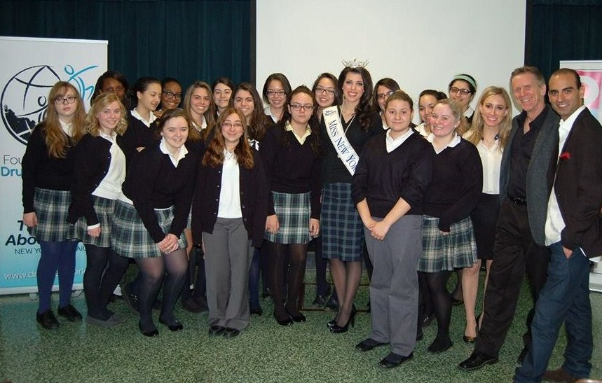 Miss New York and Dr. Bernard Fialkoff, the Foundation for a Drug Free World