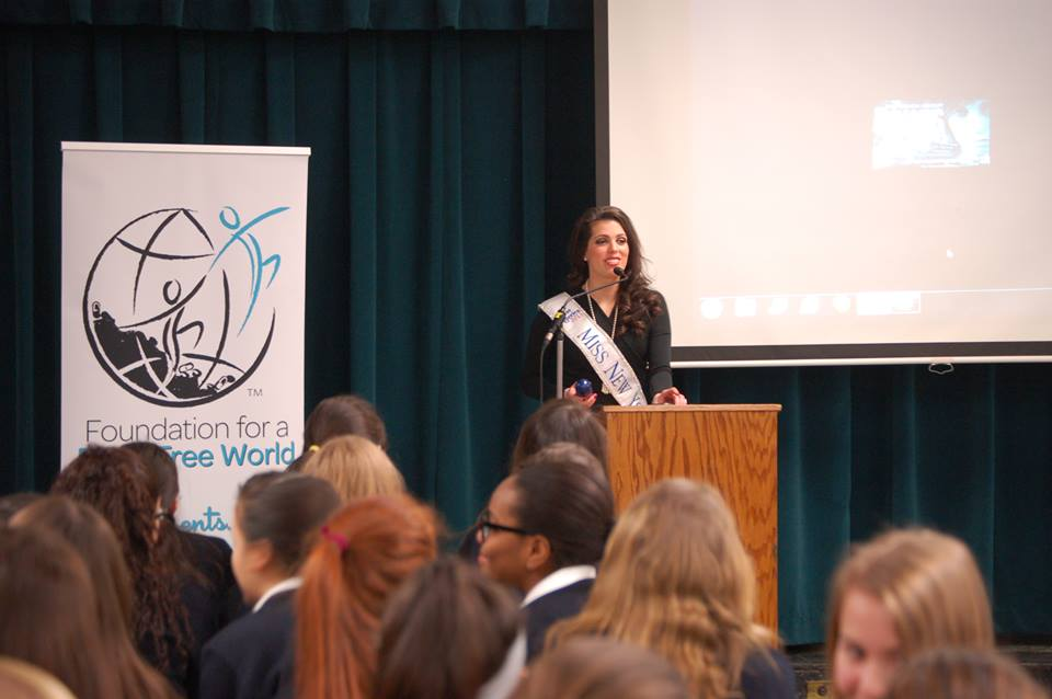 Miss New York supports the Foundation for a Drug Free World