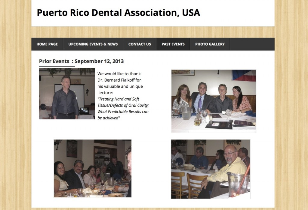 Puerto Rico Dental Association, USA thanks Dr. Bernard Fialkoff for his lecture