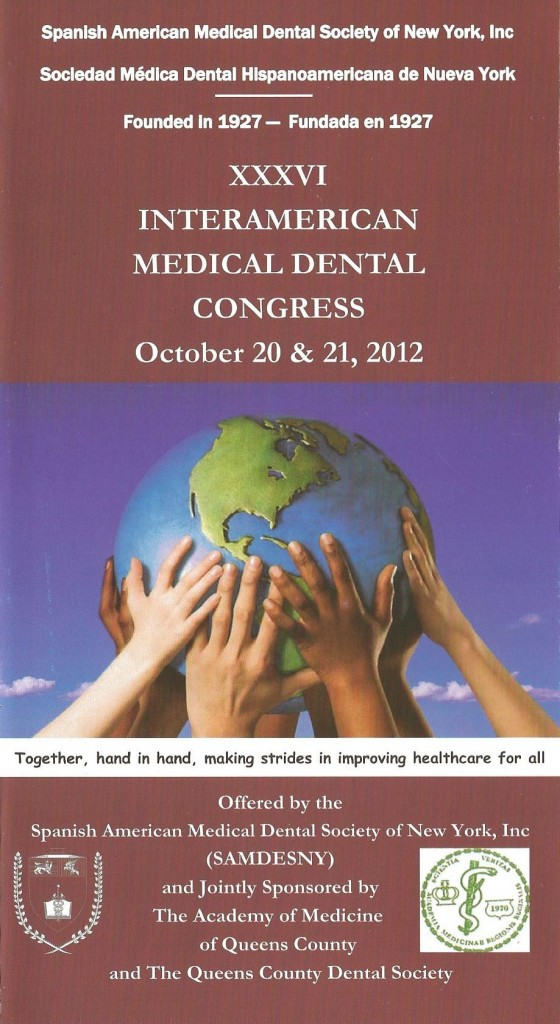 A brochure promoting the XXXVI Interamerican Medical Dental Congress