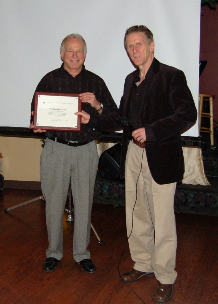 Dr. Fialkoff with Dr. Harold E. Edelman, D.D.S.