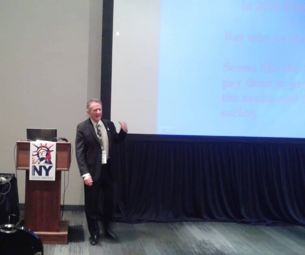 Dr. Bernard Fialkoff, lecture at the NY Dental Meeting